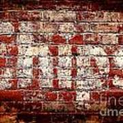 Chips Brick Wall Art Print