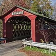 Chiselville Covered Bridge Art Print by Edward Fielding