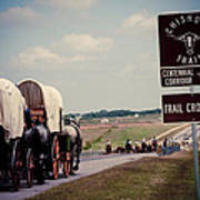 Chisholm Trail Centennial Cattle Drive Art Print