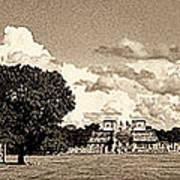 Chitzen Itza Panorama Sepia Art Print