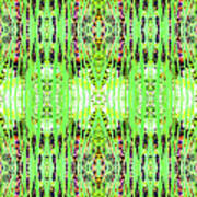 Chive Abstract Green Art Print