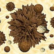 Chocolate Asteroids Art Print