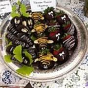 Chocolate Berries Art Print