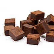 Chocolate Brownies Art Print