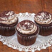 Chocolate Caramel Cupcakes Art Print