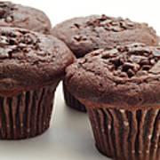 Chocolate Chocolate Chip Muffins - Bakery - Breakfast Art Print