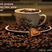 Chocolate Coffee Art Print