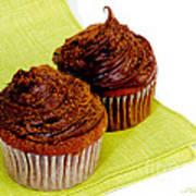 Chocolate Cupcakes Art Print