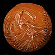 Chocolate Dipped Baseball Square Art Print