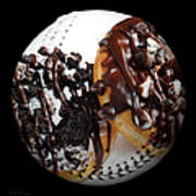 Chocolate Donuts Baseball Square Print by Andee Design