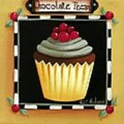 Chocolate Pecan Cupcake Art Print