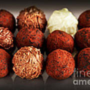 Chocolate Truffles Art Print by Elena Elisseeva