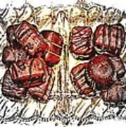 Chocolates - Illustration - Dish - Candy Art Print