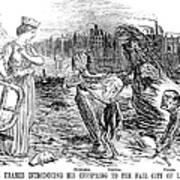 Cholera Cartoon, 1858 Art Print