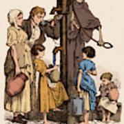 Cholera-infected Pump, 1854 Art Print