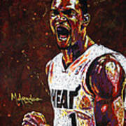 Chris Bosh Print by Maria Arango