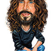 Chris Cornell Print by Art