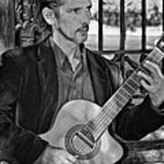 Chris Craig - New Orleans Musician Bw Art Print