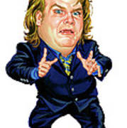 Chris Farley Art Print