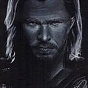 Chris Hemsworth Art Print by Rosalinda Markle