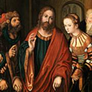 Christ And The Adulteress Art Print