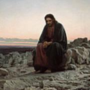 Christ In The Wilderness Art Print