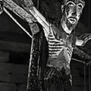 Christ Of Salardu - Bw Art Print