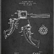 Christ Revolver Patent Drawing From 1866 - Dark Art Print