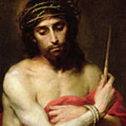 Christ The Man Of Sorrows Art Print by Bartolome Esteban Murillo
