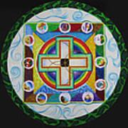 Christian Sand Mandala Art Print