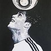 Christiano Ronaldo - Real Madrid Fc Art Print