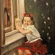 Christine By The Window - 1945 Art Print