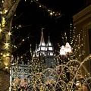 Christmas At Temple Square 11 Art Print