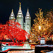 Christmas At Temple Square Art Print