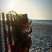 Christmas At The Beach Art Print