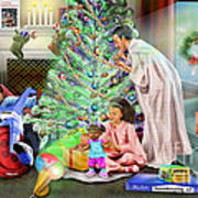 Christmas Back In Da Day Art Print