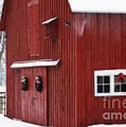 Christmas Barn 3 Art Print