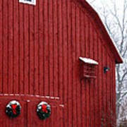 Christmas Barn 4 Art Print