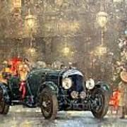 Christmas Bentley Art Print