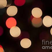 Christmas Bokeh Lights Art Print