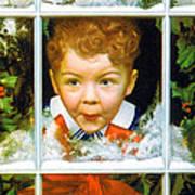 Christmas Boy Art Print