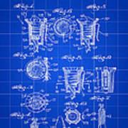 Christmas Bulb Socket Patent 1936 - Blue Art Print