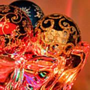 Christmas Bulbs Art Print