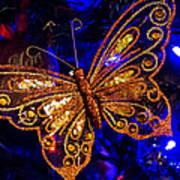 Christmas Butterfly Art Print