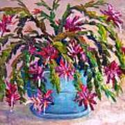 Christmas Cactus Painting by Lou Ann Bagnall