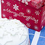 Christmas Cake Art Print by Anne Gilbert