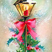 Christmas Candle Art Print