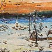 Christmas Card Painting Art Print