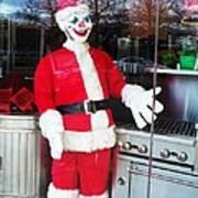 Christmas Clown Art Print