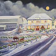 Christmas Corral Art Print